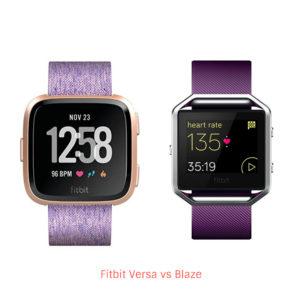 Fitbit Versa vs Blaze