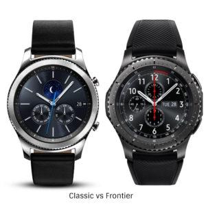 Samsung Gear S3 Classic vs Frontier